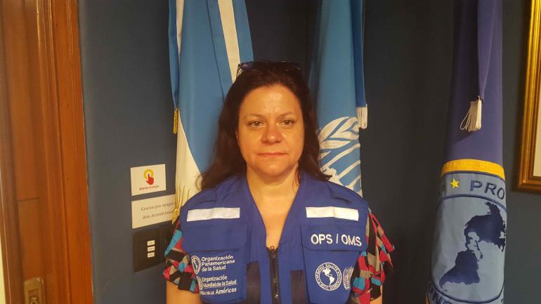 Alejandra Bonadé. Consultora en Emergencias y Desastres de la OPS