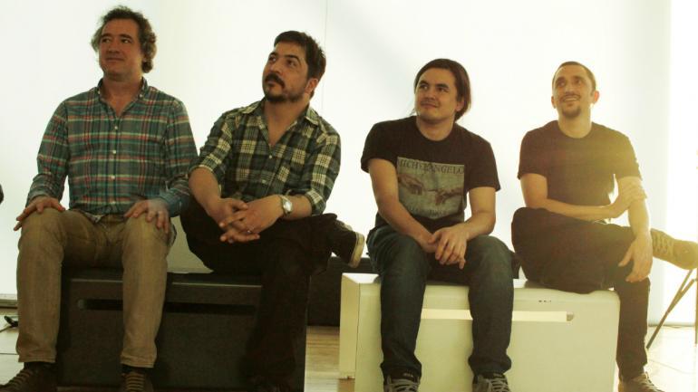Martín Bonadeo, Walter Krainbuhl, Francisco Herrero y Lucas Aguirre. / Foto: Pablo Madrazzo.