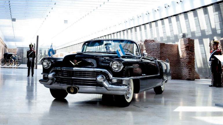MUSEO CASA ROSADA. El Cadillac que compró Perón, una de las nuevas adquisiciones (Presidencia de la Nación).