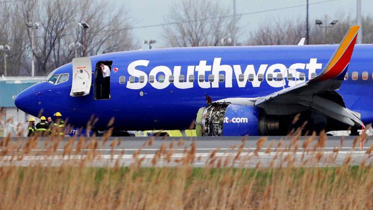 FILADELFIA. El avión tuvo que aterrizar de emergencia (AP).