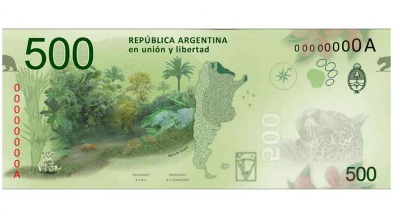 CONCURSO ESPAÑOL. Ganó el billete argentino de 500 pesos (La Voz/Archivo).