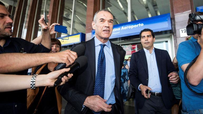 Carlo Cottarelli. El exconomista del FMI propuesto por Mattarella para formar Gobierno (AP).