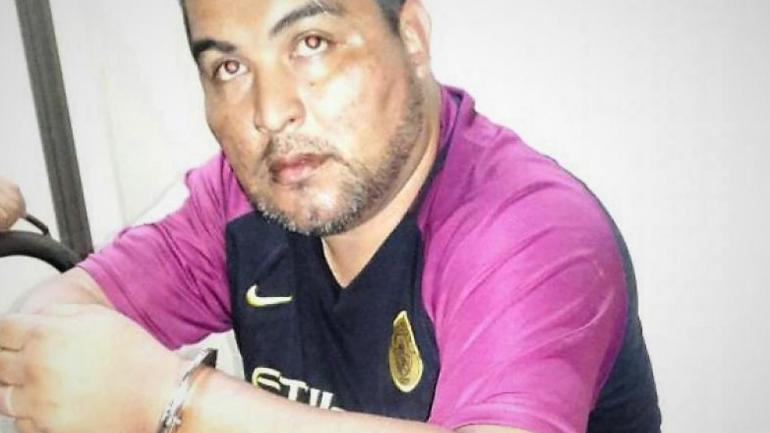 Sospechoso. El subcomisario Ariel Barrionuevo, cuando fue detenido. Hoy, está más delgado. (Policía)