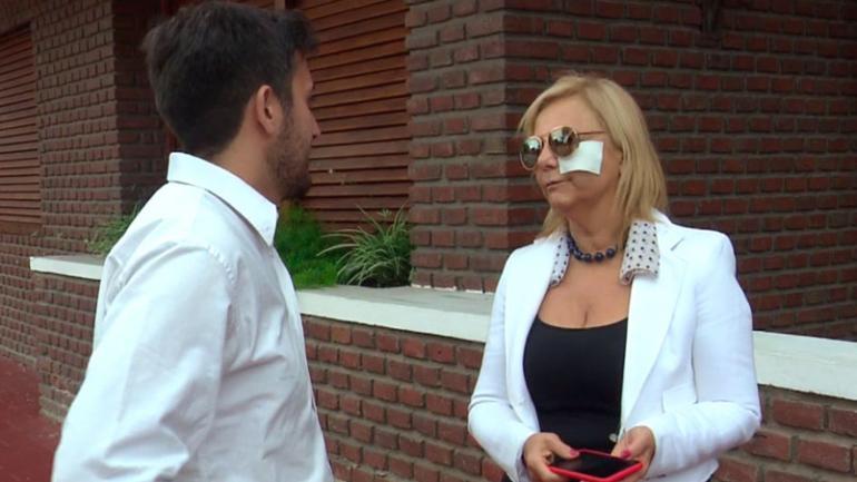 Víctima. Teresa Panetta, por entonces dueña de casa, sufrió numerosos golpes. (El Doce TV)