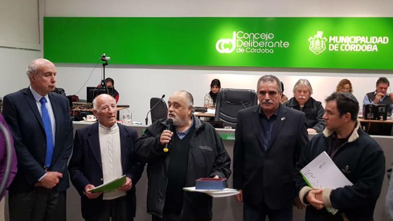 La distinción al Comipaz en el Concejo Deliberante de Córdoba.
