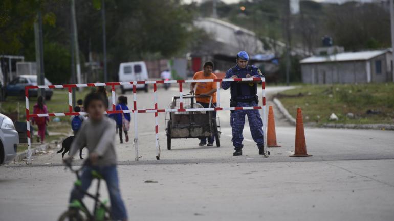 Más seguridad. La presencia de personal policial en Costanera es constante (Pedro Castillo/La Voz).