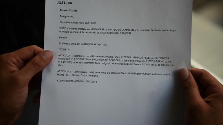 Firmado por Michetti. La vicepresidenta rubricó el decreto, publicado ayer en el Boletín Oficial. (Facsímil)