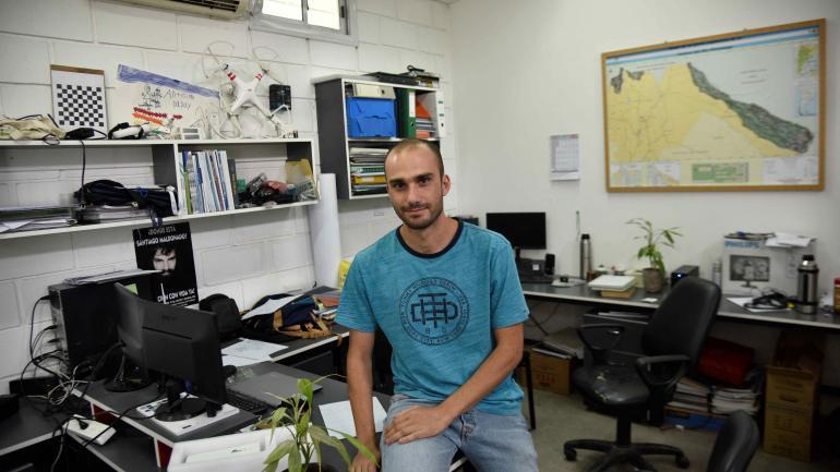 Antoine Patalano desarrolló el software que calcula el caudal de un río a partir de imágenes de video. (Pedro Castillo)