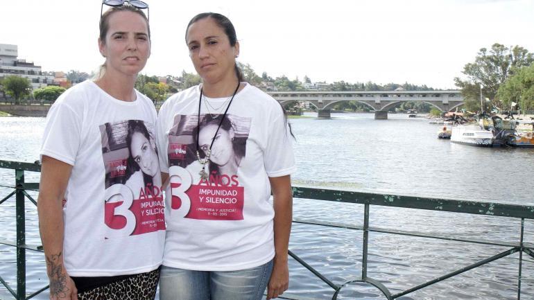 Amigas. Nadia Corzo y Macarena López Salvans siguen reclamando justicia por Andrea Castana. (La Voz)