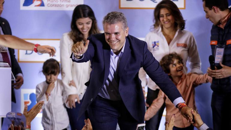 Iván Duque. Tiene 41 años, pertenece al partido Centro Democrático y su mentor es el expresidente Álvaro Uribe. (DPA)
