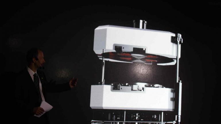 Equipo. Ciclotrón Kiube, de la empresa Iba, es considerado el más compacto en función a su capacidad.