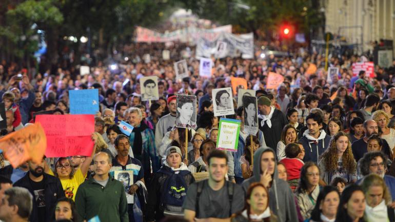 Asistencia. Para muchos, fue la manifestación más numerosa por el Día de la Memoria en Córdoba.