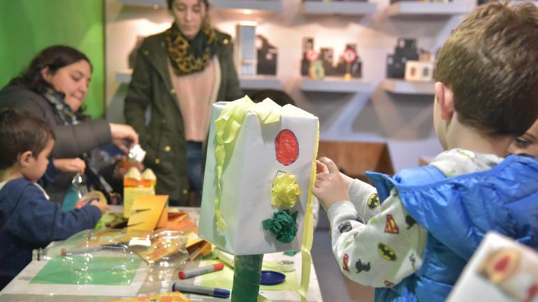 En acción. El museo Barrilete sigue proponiendo juegos y talleres.
