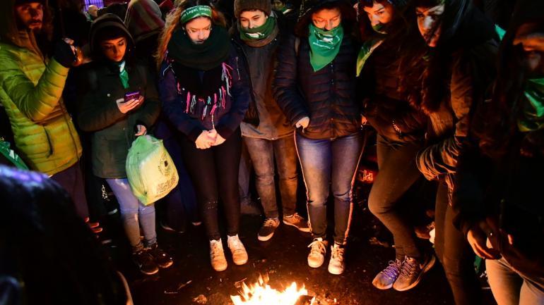 Desazón. En Buenos Aires, una multitud desilusionada. (Federico López Claro)