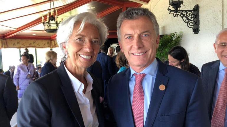 Con el FMI. Christine Lagarde y Mauricio Macri. (AP/ Archivo)