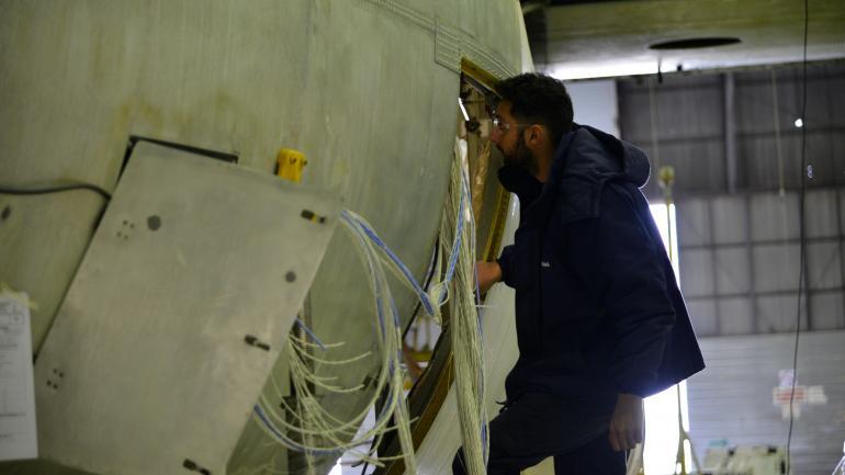 Gigante. El Hércules C-130 vuela desde hace más de 40 años. (Darío Galiano)