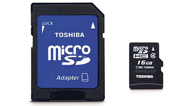 Tarjetas de memoria MicroSD $ 113,86.