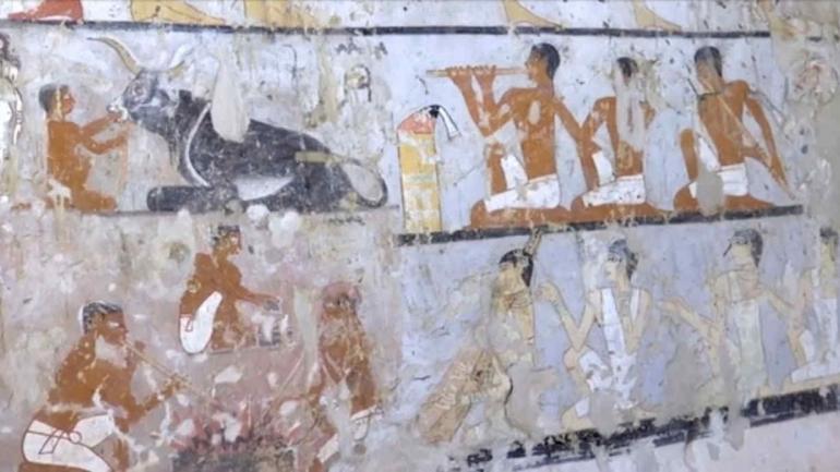 EGIPTO. Las imágenes de la tumba encontrada por los arqueólogos (AP).