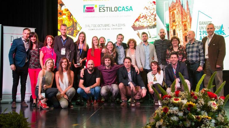Expositores y organizadores. Satisfechos, tras el éxito del evento. (Gentileza: Organización Expo EstiloCasa)