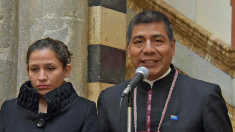 Fernando Huanacuni. El canciller de Bolivia que anunció la adecuación de la norma (La Nación).
