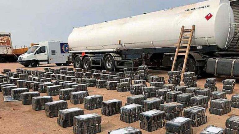 Histórico. La droga fue secuestrada cuando el camión frenó en una playa para vehículos de gran porte en Palmar. (La Voz/Archivo)