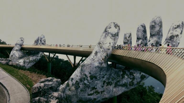 Las fotos del Puente Dorado de Vietnam