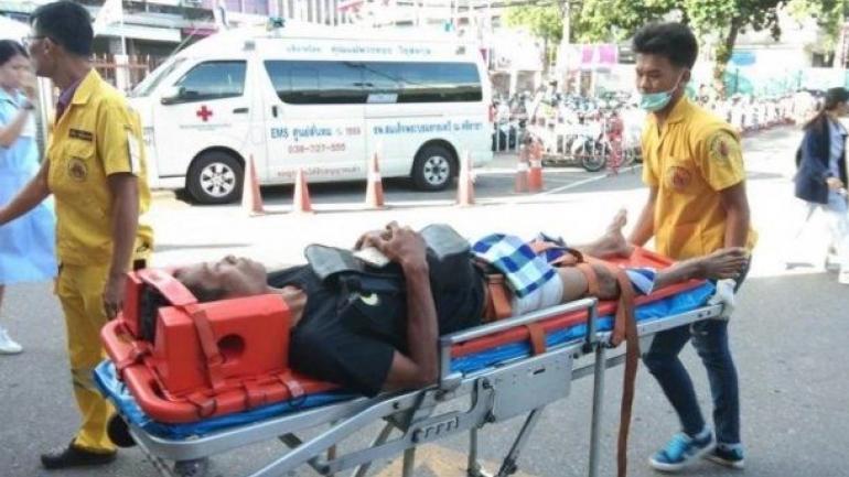 TAILANDIA. El hombre mutilado (Foto diario Intriper.)