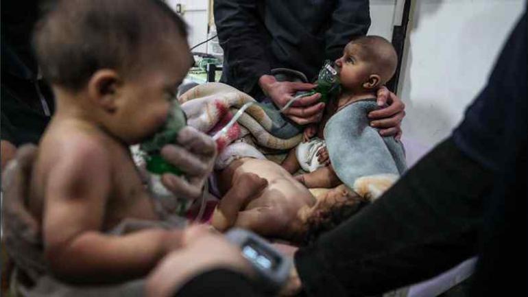 Horror en Guta. Los niños, principales víctimas del ataque del régimen sirio en la zona rebelde.
