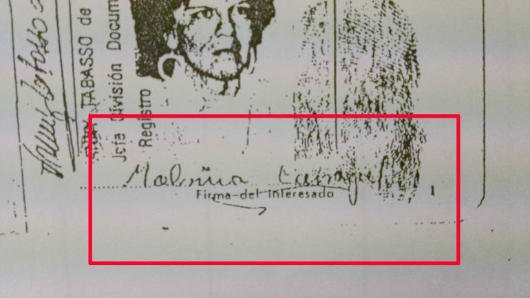 FIRMA. De la Isabel Malvina Carvajal con domicilio en Río Cuarto en un DNI que figura en el expediente.