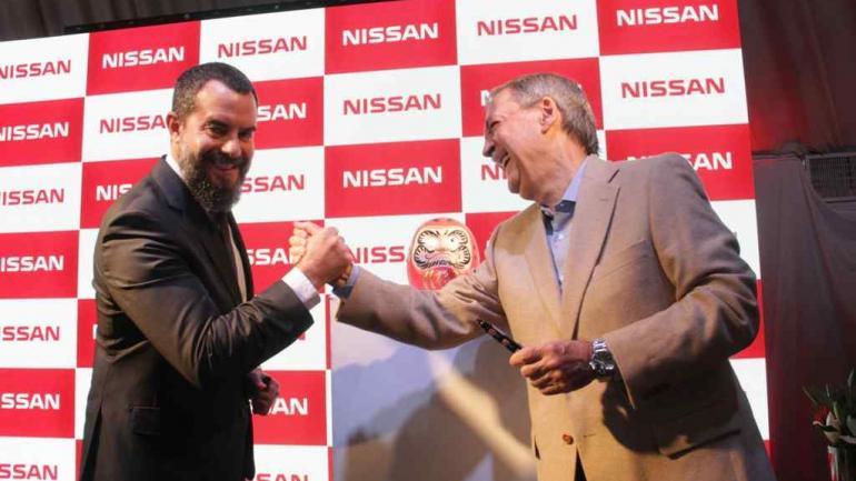 SCHIARETTI. En el acto, junto al titular de Nissan (Provincia).