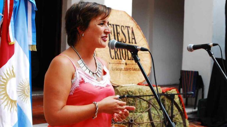La intendenta Myrian Prunotto destacó la importancia de presentar a la Fiesta Criolla en el Patio Mayor del Cabildo Histórico (Estación Juárez Celman).