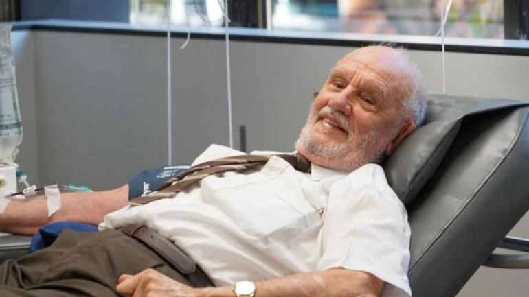 James Harrison, de 81 años, hizo su última donación sanguínea el 11 de mayo de 2018.