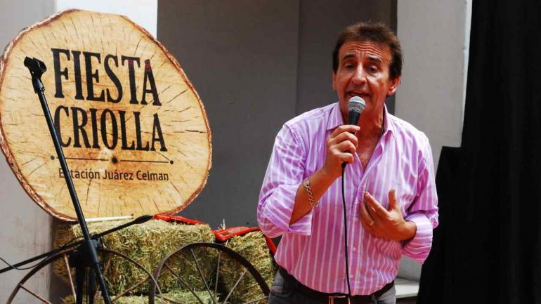 Juan Bautista fue otro de lo artistas elegidos para la presentación oficial de la Fiesta Criolla (Estación Juárez Celman).