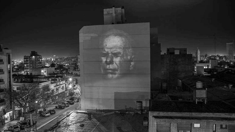 BARRIO COFICO. El rosto de Julio López, en septiembre de 2014.