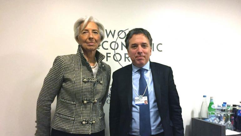 JUNTOS. Christine Lagarde, gerenta del FMI junto a Nicolás Dujovne en una foto de archivo (La Voz).