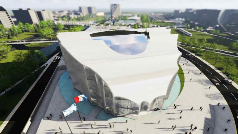 Así quedará. Render del nuevo edificio de la Legislatura. Tendrá una superficie total de 12 mil metros cuadrados. (Gobierno de Córdoba)