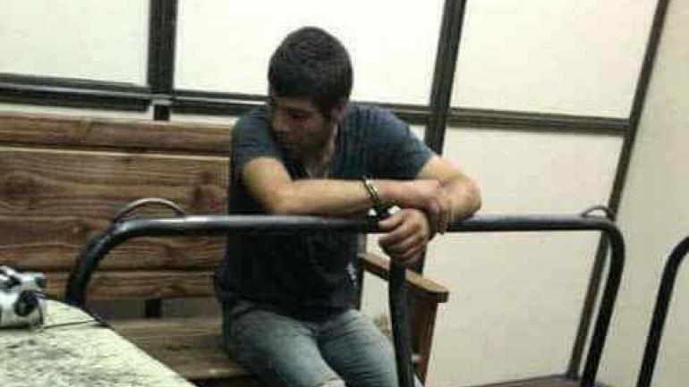 Daniel Ludueña, cuando quedó detenido el lunes pasado en la Jefatura de Policía.