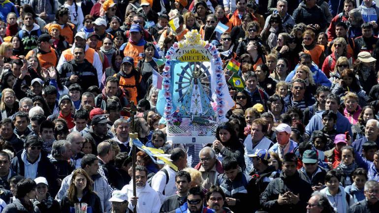PEREGRINACIÓN. A la Virgen de Luján (DyN).