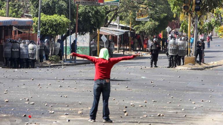 Las protestas, unas de las más violentas en los 11 años de gobierno de Ortega, estallaron debido al aumento de las cuotas patronales y laborales que buscan saldar un millonario déficit del seguro social. (AP)