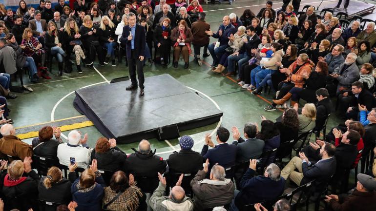 MACRI. En el acto (Presidencia de la Nación).