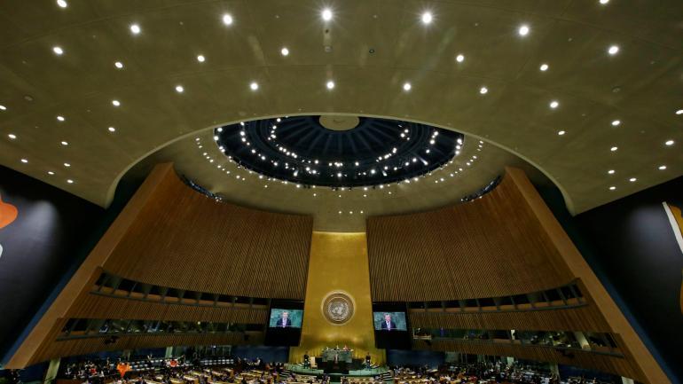 MACRI. El Presidente expuso ante las Naciones Unidas.(AP)