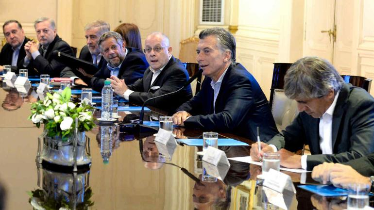 GABINETE. En la reunión (Presidencia de la Nación).