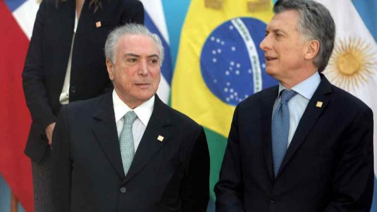 2017. Temer y Macri cuando participaron en una reunión de Unasur (La Voz/Archivo).