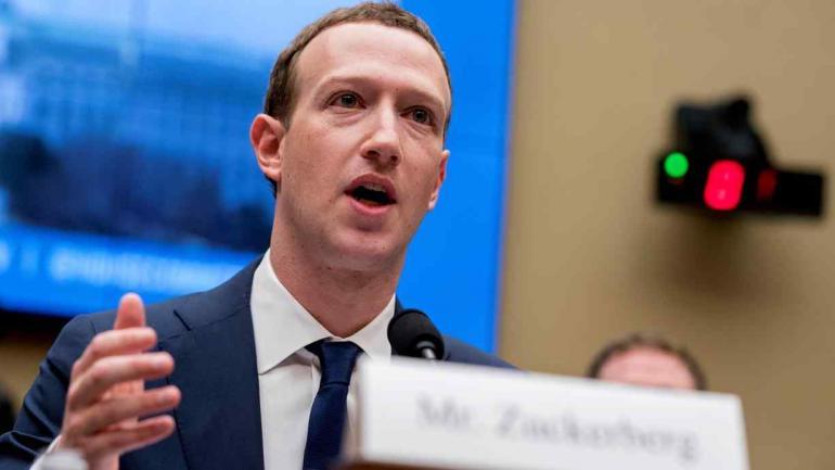 Mark Zuckerberg, creador de Facebook, en el Congreso de Estados Unidos (AP).