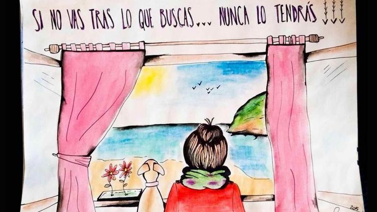 Una relación especial. Además de compañera, Cocó inspira dibujos.