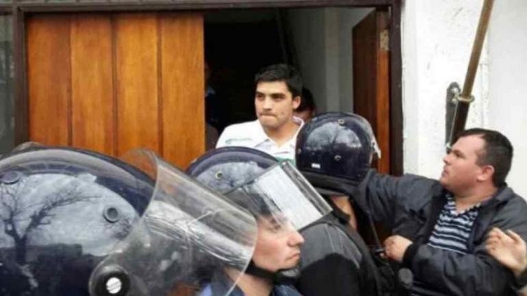 MAXIMILIANO CELI. Cuando fue absuelto en el juicio que se desarrolló en septiembre de 2014 en Laboulaye (Archivo).