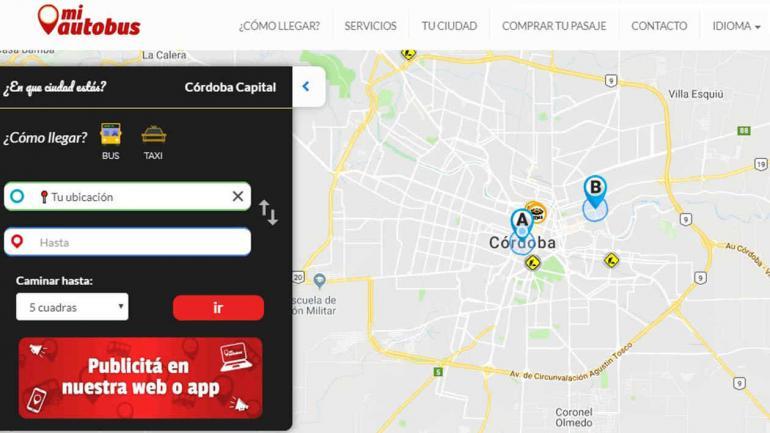MiAutobus se convertirá en un canal de información para los vecinos. (Municipalidad de Córdoba)