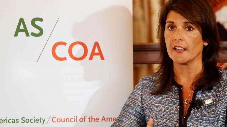 La embajadora estadounidense ante la ONU Nikki Haley. (AP)