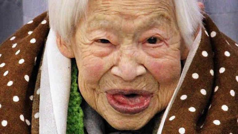 Misao Okawa, la más longeva (Agencia AP)