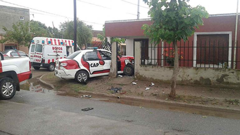 VILLA MARÍA. Así quedaron los móviles de la Policía de Córdoba (La Voz).
